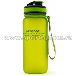 Бутылка для воды с сеточкой и мерной шкалой UZSPACE 650мл тритан 3030 Зеленый матовый (1)