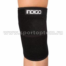 Суппорт колена неопреновый INDIGO   IN210 M Черный