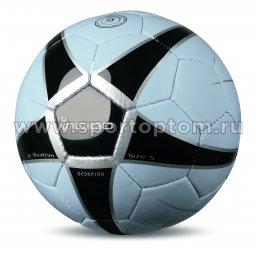 Мяч футбольный №5 INDIGO SCORPION тренировочный (PU, PVC 1.1 мм) D04 Голубо-черный