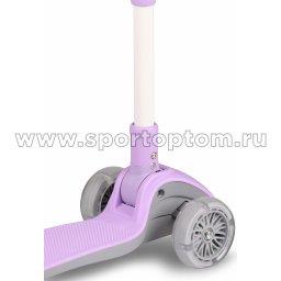 IN244 Самокат детский INDIGO FAST трехколесный до 50 кг Фиолетовый (4)