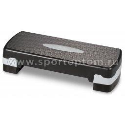 Степ-платформа для аэробики 2 уровня INDIGO HKST105 67*27*10/15 см Черно-серый