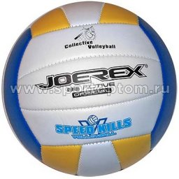 Мяч волейбольный JOEREX  SPEED KILLS любительский шитый (PU) JE-841 Бело-сине-желтый