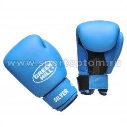 Перчатки боксёрские Green Hill SILVER и/к  BGS-2039 10 унций Синий