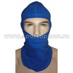 Шапка-маска Балаклава SM, 1отв.(х/б 92%,лайкра 8%) SM-168 Васильковый