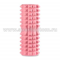 Ролик массажный для йоги INDIGO PVC IN267 розовый  (2)