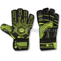 Перчатки вратарские INDIGO 1218-A Черно-зеленый