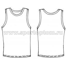 Майка гимнастическая INDIGO с окантовкой SM-197 Черный-бирюзовый (3)