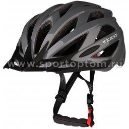 Шлем велосипедный взрослый INDIGO 21 вентиляционных отверстий IN069 55-61см Серый