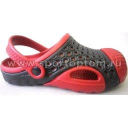 Сабо детские Комби Скейт ЕК-15В5 Черно-красный
