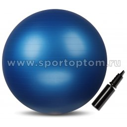 Мяч гимнастический INDIGO Anti-burst с насосом   IN002 55 см Синий