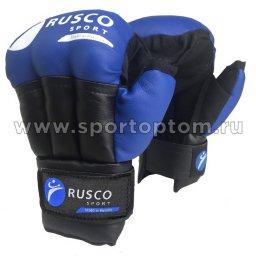 Перчатки для рукопашного боя RUSCO SPORT и/к   RS-28 6 унций Синий