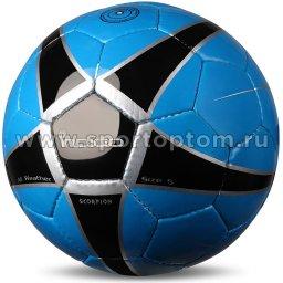 Мяч футбольный №5 INDIGO SCORPION тренировочный (PU, PVC 1.1 мм) D04 Сине-черный