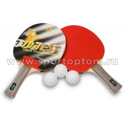Набор для настольного тенниса DOBEST 0 звезд (2 ракетки, 3 шарика) 17 BR