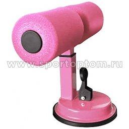 Тренажер для отжима и пресса INDIGO SIT UP BAR вакуумный IN148 Розовый