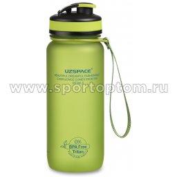 Бутылка для воды с сеточкой и мерной шкалой UZSPACE  тритан  3030 650 мл Зеленый