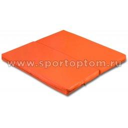 Мат гимнастический складной SM-108  Оранжевый (1)