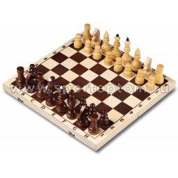 Шахматы деревянные Гроссмейстерские лакировнные с доской Россия