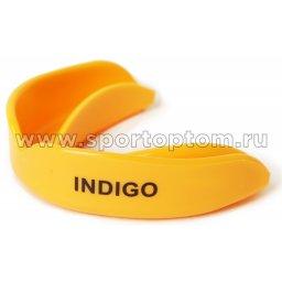 Капа 1 челюстная  INDIGO термо, в контейнере MS-01-TP Оранжевый