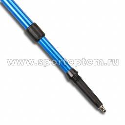 Палки для скандинавской  ходьбы телескопические INDIGO SL-1-3 Синий пластмассовые ручки (3)