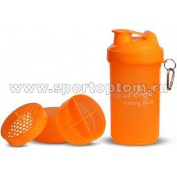 Бутылка для воды (шейкер) INDIGO  97866A IR 600 мл Оранжевый