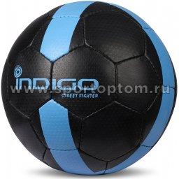 Мяч футбольный №5 INDIGO STREET FIGHTER для игры на асфальте (PU прорезиненный) E02 Черный
