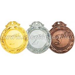 """Медаль INDIGO с лентой """"2 место"""" Серебро 70025 ZS                  70 мм"""