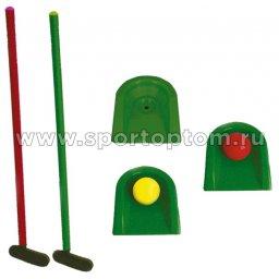 Игра детская Гольф (2 клюш +2 мяча+ 3 лунки) 473 У