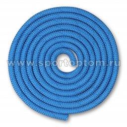 Скакалка для художественной гимнастики Утяжеленная 150 г INDIGO SM-121 2,5 м Синий