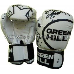 Перчатки боксёрские Green Hill STAR PU FX  BGS-2219 14 унций Белый