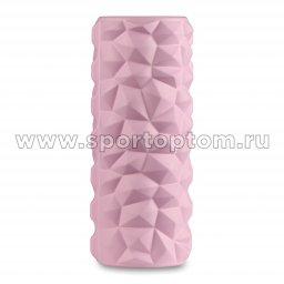 Ролик массажный для йоги INDIGO PVC IN279 розовый (2)