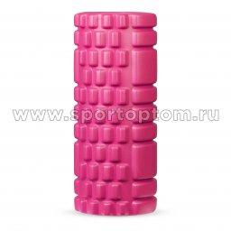 Ролик массажный для йоги INDIGO Розовый NEW2-2