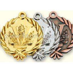 Медаль INDIGO d48мм  серебро, лента L**см 480009 ZS                 48 мм