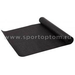 Коврик для йоги и фитнеса INDIGO PVC YG03 173*61*0,3 см Черный