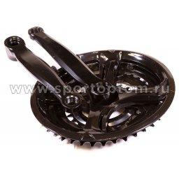 Вело Шатуны комплект сталь, к-во зубьев на звездах 24*34*42  ST16-S2442FG-15 170 мм Черный