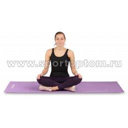 Коврик для йоги и фитнеса INDIGO PVC с рисунком Цветы YG03P Цикламеновый (4)