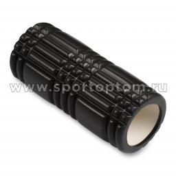 Ролик массажный для йоги INDIGO PVC  IN233 33*14 см Черный