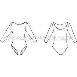 Купальник гимнастический рукав 3-4 INDIGO SM-136 Белый (3)