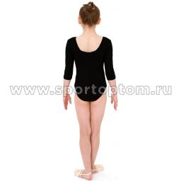 Купальник гимнастический рукав 3-4 INDIGO SM-137 Черный (2)