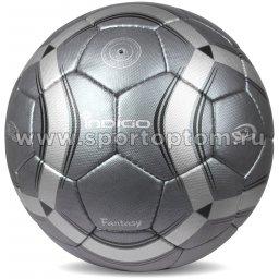 Мяч футбольный №5 INDIGO FANTASY тренировочный( PU 14 мм Япония) C03 Серый