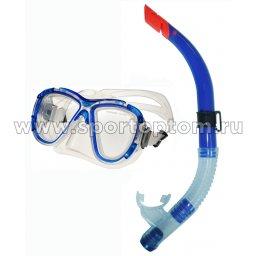 Набор для плавания маска+трубка INDIGO взрослый М48S40