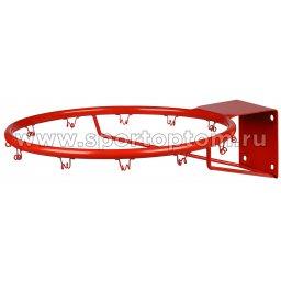 Кольцо баскетбольное (труба) с креплением для сетки AN-10 №7 (450 мм) Красный