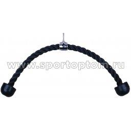 Рукоятка-канат Двойной для тяги на трицепс HAWK  0100 HKSZ Черный