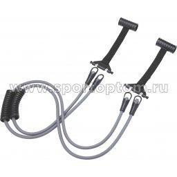 Эспандер многофункциональный в дверной проем PRO SUPRA 4в1 2 жгута 105 C Черно-серый