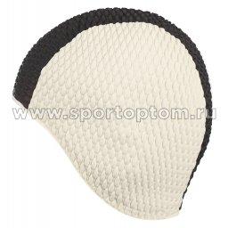 Шапочка для плавания INDIGO Bubble мужская IN081 Бело-черный