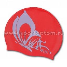 Шапочка для плавания силиконовая INDIGO Бабочка SCBT107 Красный