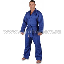 Кимоно дзюдо  52-54/182 хлопок куртка 600-650г/м2,брюки 280-320г/м2 RA-002 Синий
