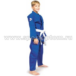 Кимоно  дзюдо Green Hill JUNIOR хлопок куртка 350г/м2,брюки 180г/м2  JSJ-10227 4/170 Синий