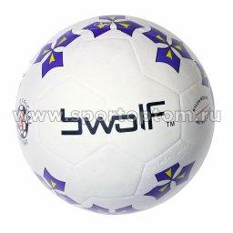 Мяч резиновый футбольный BWOLF 360 г № 4 5201 TFR                Бело-Синий