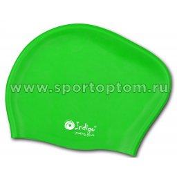 Шапочка для плавания силиконовая  длинные волосы INDIGO 811 SC Салатовый