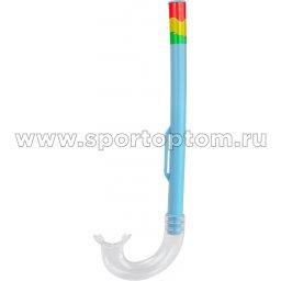 Трубка  для плавания  INDIGO  (ПВХ, маскодержатель) 0914